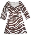 Boden short dress Brown Linen Zebra Animal Print Kaftan Beach Coverup Tunic on Tradesy