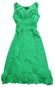 Boden 100% Silk Party Rosette Detail Dress