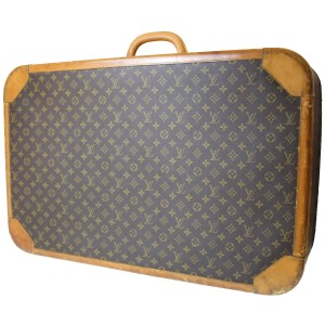 Louis Vuitton Vintage Monogram Suitcase Stratos Carry On Brown Travel Bag