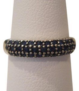 Other 14 KT WG Pave Blue Sapphire Band Ring, Size 7
