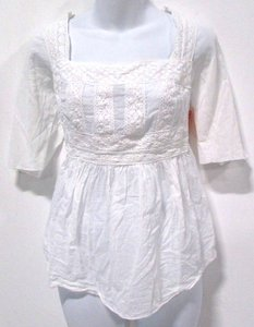 Bailey 44 Lace Lace Trim Peasant Top White