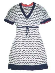 Boden short dress Multi-Colored Knitted Zig-zag Chevron Stripe Tunic on Tradesy