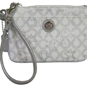 Coach Wristlet in White/Silver