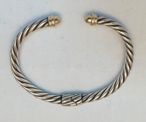 Samuel B. 14K Gold and Sterling Silver Cable Bracelet
