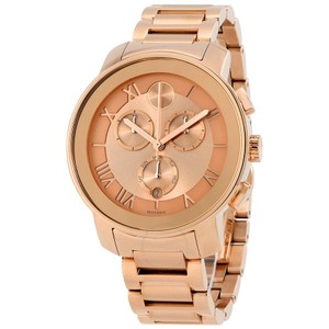 Movado BRAND NEW WOMENS MOVADO (3600210) BOLD ROSE GOLD STAINLESS STEEL WATCH