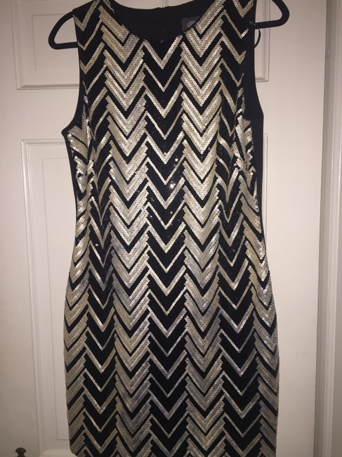 Item - Black and Silver Short Cocktail Dress Size 12 (L)