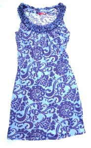 Boden short dress Purple Blue Sleeveless Knit Ruffled Neckline on Tradesy