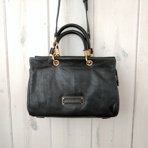 Marc by Marc Jacobs Crossbody Glossy Leather Satchel in Black