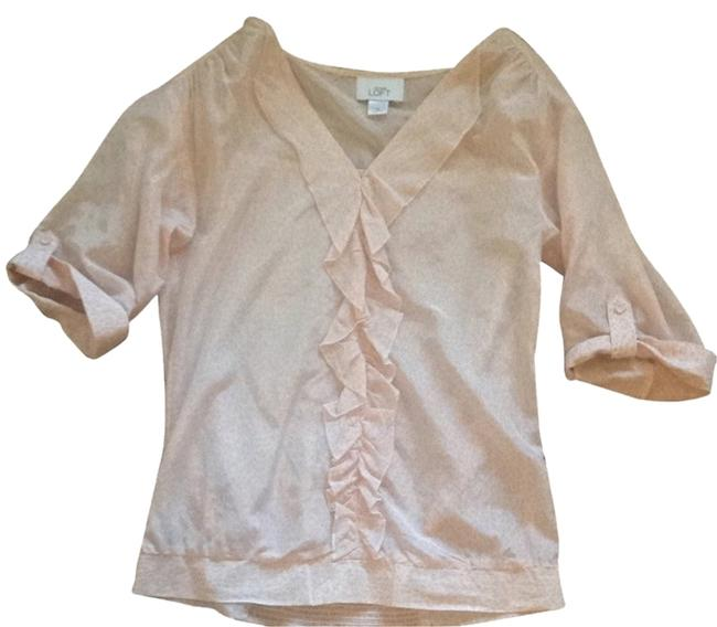 Ann Taylor LOFT Top Light Pink/cream