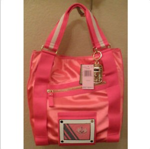 Juicy Couture Heart Medallion Nylon Tote in Pink