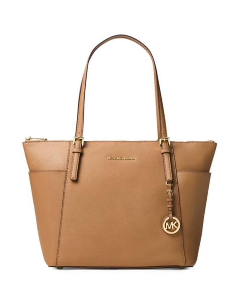 245a7ffdd700 Michael Kors Jet Set East West Brown Acorn Lether Tote - Tradesy