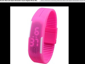 Silicone Colorful silicone digital led adjustable watch