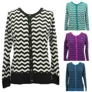 Jon & Anna Blue Black Aqua Sweater Cardigan