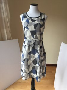 Normandy Blue Multi Maxi Dress by Marc by Marc Jacobs 100% Silk New With Tag Size 4