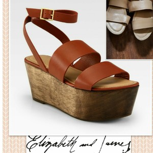 Elizabeth and James Neutral Sandals