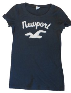 Hollister T Shirt Navy Blue