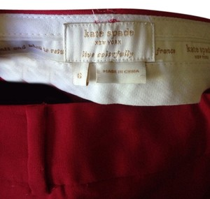Kate Spade Wool Workpant Holiday Bow Trouser Pants Red
