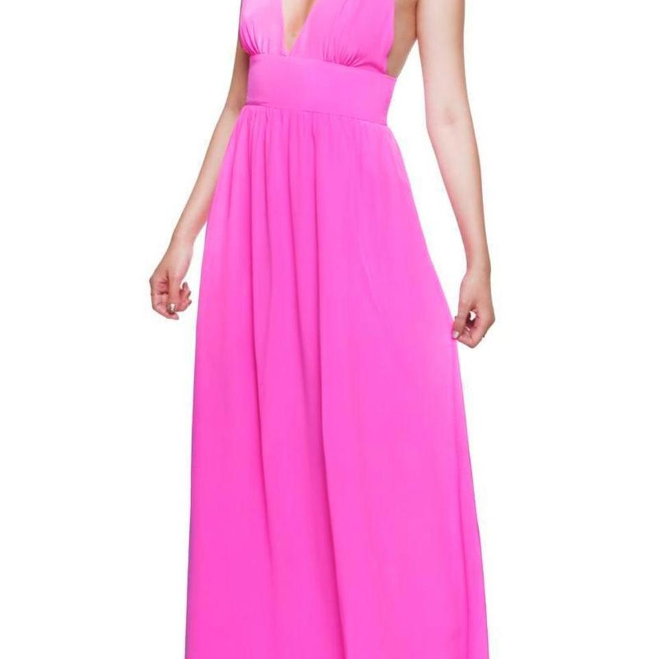 Yumi Kim Hot Pink Enchanted Long Casual Maxi Dress Size 4 (S) - Tradesy