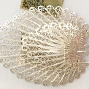 Other Stunning + Steal Sterling silver wire peacock pin/brooch