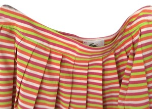 lacoste Mini Skirt Orange, Pink, Yellow-green and white stripe
