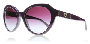Versace Cat Eye Eggplant Violet Sunglasses w/ Gradient Lenses 4306-Q 5066/4Q