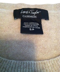 Lord & Taylor And Cashmere Shell Sweater