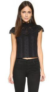 Alice + Olivia Isabel Marant Tibi Zimmermann Tory Burch Lover Top Black