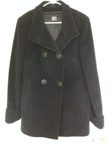 Cinzia Rocca Angora Double Breasted Wool Blend Coat