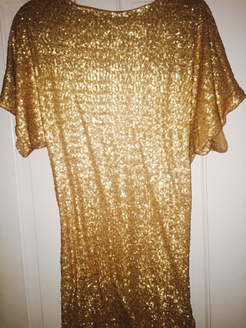 Item - Gold Sequin Short Night Out Dress Size 10 (M)