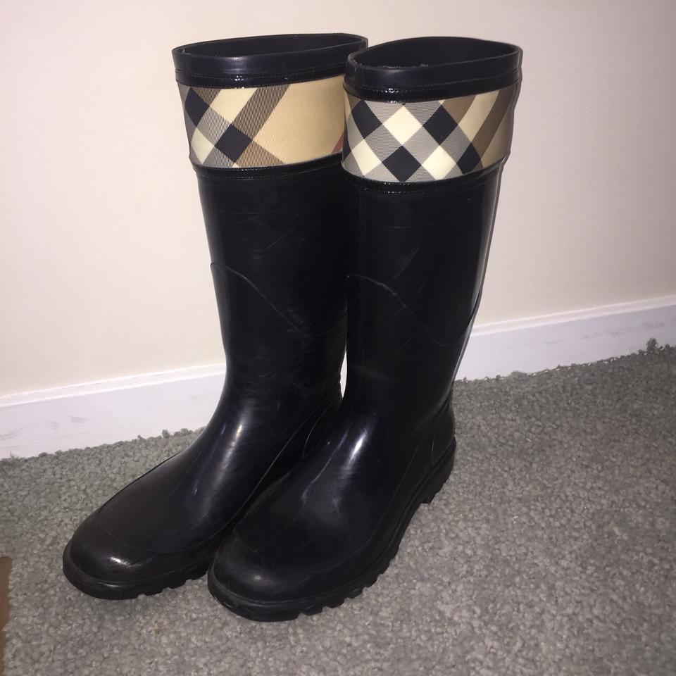 Ladies Ladies Ladies Burberry Black Tall Rianboots Boots/Booties Great classification 771836