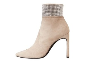Stuart Weitzman Crystal Meshsuede fossil Boots