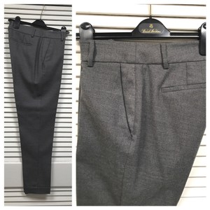 Eileen Fisher Cuffed Charcoal Ash Dress Multi-season Pants