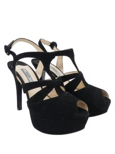 Prada Heels Suede Black Pumps