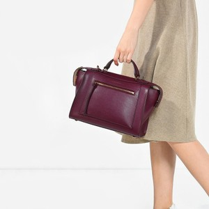 Charles & Keith Satchel in Burgundy, Gold, Purple