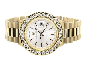 Rolex 18K Yellow Gold Rolex Presidential Day-Date 36MM Diamond Watch 7.5 CT