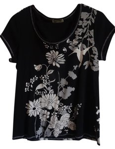 Blue Canyon T Shirt black with white & creams