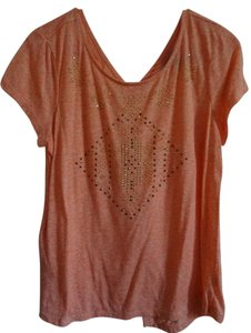 New Directions T Shirt Coral/Orange with gold sequins