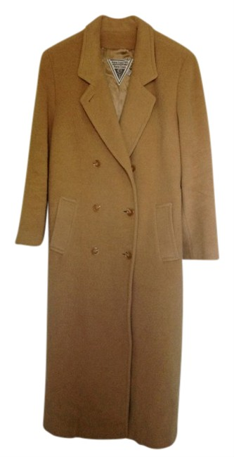 Item - Tan/Camel Soft Rich Hair Double Breasted Coat Size 12 (L)
