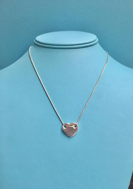 Tiffany & Co. Sterling Silver Heart Slider Necklace Tiffany & Co. Sterling Silver Heart Slider Necklace Image 1