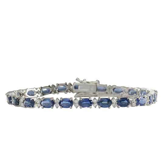 Preload https://img-static.tradesy.com/item/21252248/blue-1349-carat-natural-sapphire-14k-white-gold-diamond-bracelet-0-0-540-540.jpg