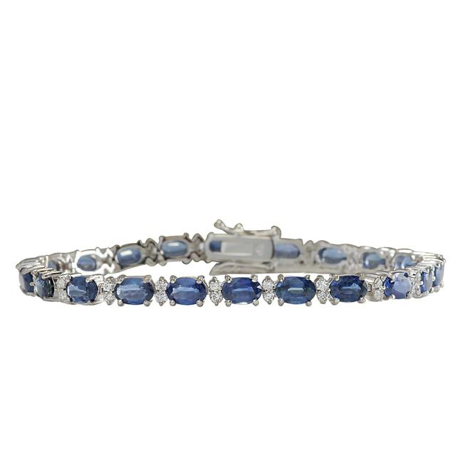 Fashion Strada Blue 13.49 Carat Natural Sapphire 14k White Gold Diamond Bracelet Fashion Strada Blue 13.49 Carat Natural Sapphire 14k White Gold Diamond Bracelet Image 1