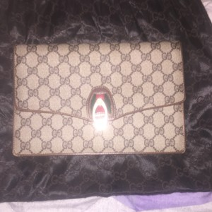 Vintage Gucci Clutch tan & brown Clutch