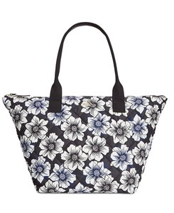 Kate Spade Kirby Floral Tote in Black/white/pale pink