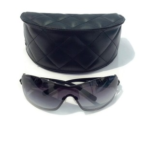 Chanel Swivel Camellia Black Sunglasses