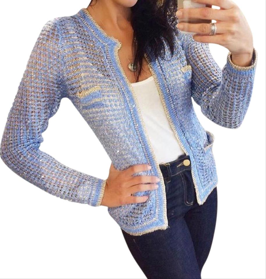 f707b1e9598d Blue Exclusive Cardigan Size 6 (S) - Tradesy