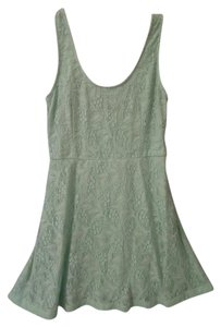 Francesca's short dress mint green Lace on Tradesy