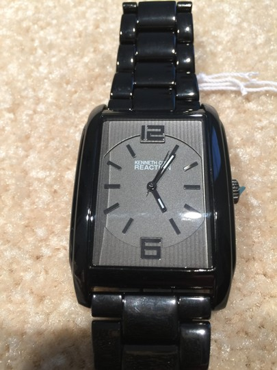 Kenneth Cole Reaction Men's Kenneth Cole Reaction Interchangeable Black Steel & Leather Band Casual Watch, New in Box