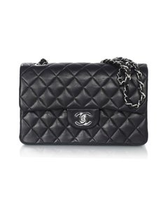 Chanel Flap Double Flap Leather Quilted Shoulder Bag