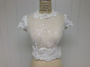 Lace Sexy Sheer Cap Sleeve Top Size 6/8