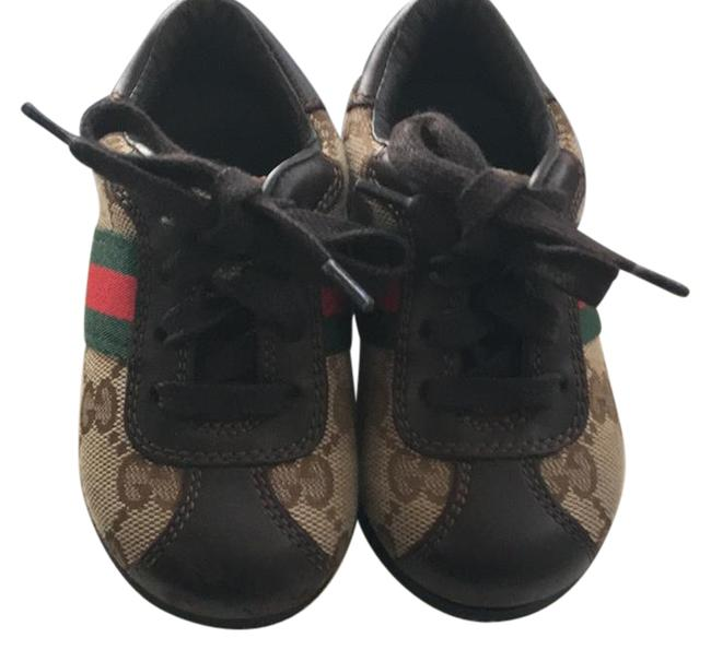 Item - Brown Canvas Toddler Sneakers Size US 4 Narrow (Aa, N)